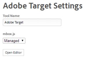 target dashboard