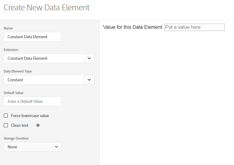 Constant Data Element Interface