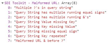 Every Malformed URL Error