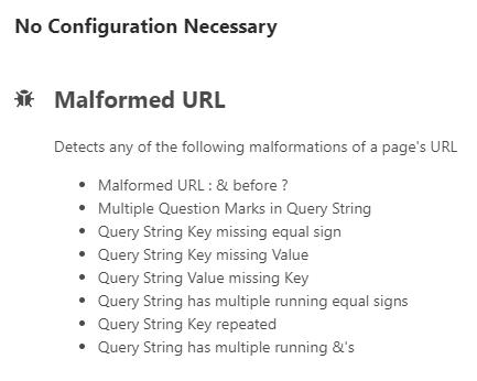 Malformed URL Condition