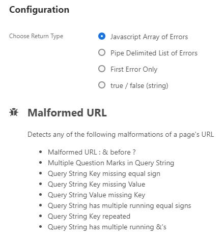 Malformed URL Error