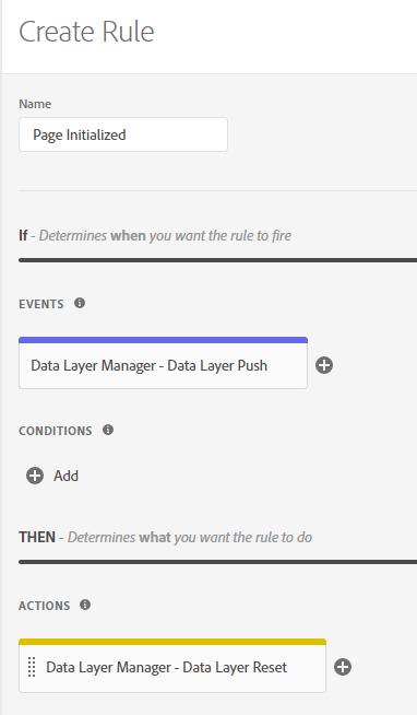 DLM Data Layer Reset