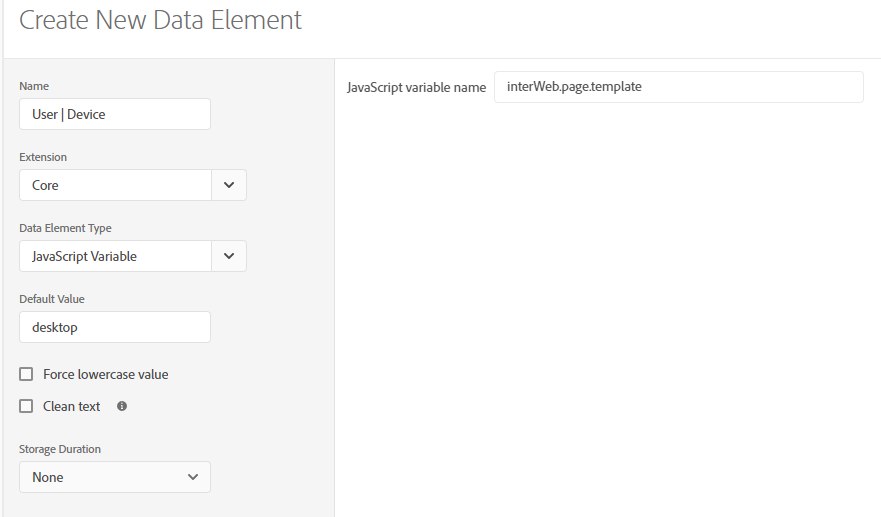 mobile data element